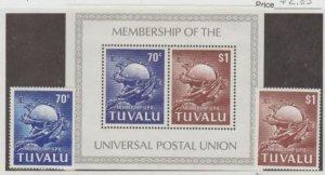 Tuvalu Scott #164-165-165a Stamps - Mint NH Set