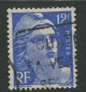 France - Scott 601 - General Definitive Issue -1948 - Used - Single 12fr Stamp