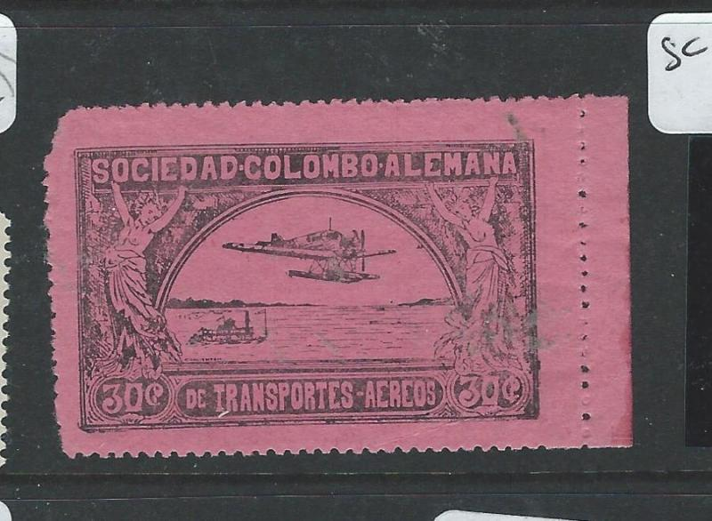 COLOMBIA (PP2609B) A/M SC C14 UL CORNER ROUNDED  MNH