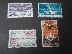 Kenya Uganda Tanganyika 1968 Sc 189-92 set FU