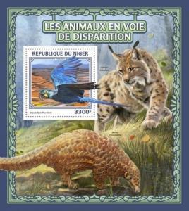 Niger - 2016 Endangered Animals - Stamp Souvenir Sheet - NIG16523b