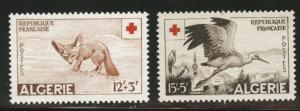 ALGERIA Scott B88-B89 MH* Wildlife  Red Cross semipostal set 1957