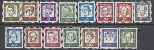 Germany Berlin #9N176-9N190 1961-1962 Mint NH Set of 15