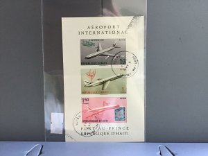 Republic D'Haiti Airport International cancelled stamps sheet  R27052