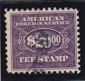 RK40 F-VF used consular revenue stamp with nice color cv $ 210 ! see pic !