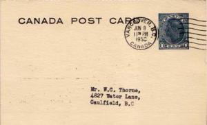 Canada, Canada British Columbia, Government Postal Card