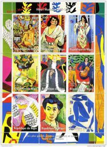 Niger 1998 Matisse-Philex France'99 Philatelic Sheet Perforated mnh.vf