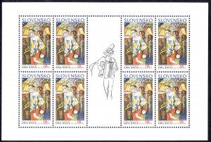 Slovakia Sc# 403 MNH Pane/8 2002 Europa