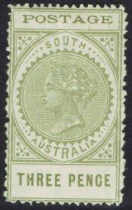 SOUTH AUSTRALIA 1902 QV THIN POSTAGE 3D PERF 12½
