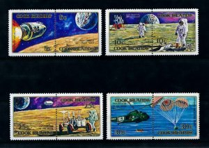 [102283] Cook Islands 1972 Space travel Apollo 11 helicopter 4 Pairs MNH