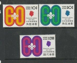 Hong Kong 1971 Scouting UM/MNH SG 270/2