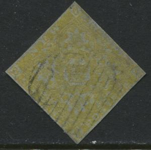 New Brunswick QV 1851 6d olive yellow used