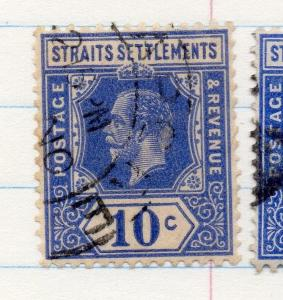 Malaya 1912 Early Issue Fine Used 10c. 207129