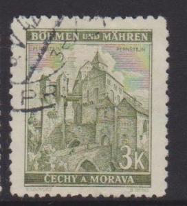 Bohemia and Moravia Sc#53c Used