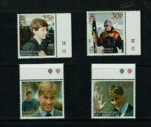 South Georgia, 2000, Prince William, 18th Birthday, MNH set