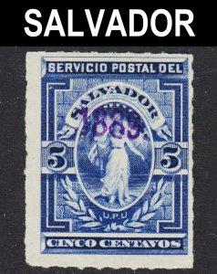 El Salvador Scott 36 F+ unused no gum.