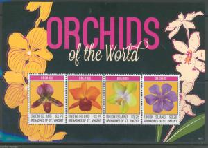 UNION ISLAND 2014 ORCHIDS OF THE WORLD  SHEET MINT NH
