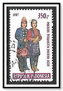 Indonesia #1318 Folk Costumes Used