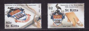 St. Kitts-Sc#453-4- id7-unsed NH set-University of the West Indies-1998-