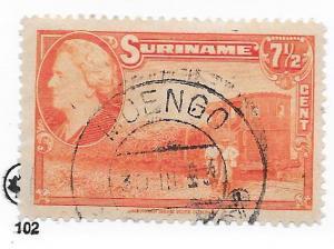 Surinam #192 7 1/2c orange  (U) CV $0.35