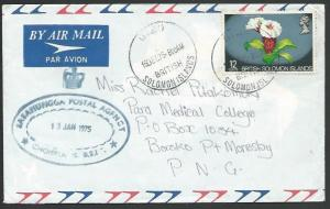 SOLOMON IS 1975 commercial cover to PNG,  SASAMUNNGA POSTAL AGENCY.........53591