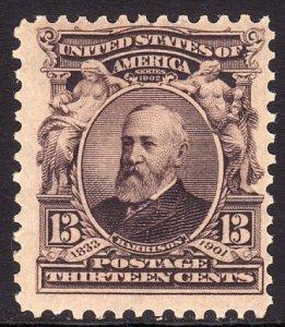 1902 - 1903 U.S Benjamin Harrison 13¢ issue MNH Sc# 308 CV $100.00