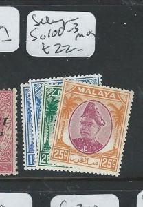 MALAYA SELANGOR  (P0810B) SULTAN  SG 100-3  MOG