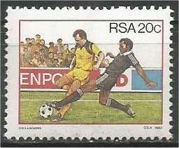 SOUTH AFRICA, 1983, MNH 20c, Soccer Scott 619