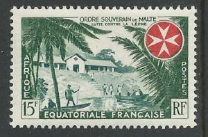 French Equatorial Africa #194 Knights of Malta (1) Unused VLH