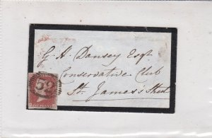 England 52 Round Mark One Penny Stamp Cover to Conserv. Club St James's Rf 34878