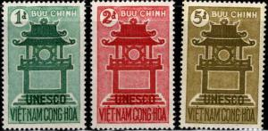 South Vietnam Scott 178-180 Confucious Temple UNESCO set MH*