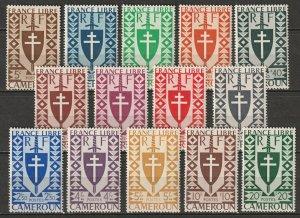 Cameroun 1941 Sc 283-95 Yt 249-62 set MNH**