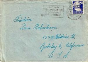 Germany Soviet Zone 50pf Marx 1949 (10) Dresden A 25 Spielt in der Sachs. Lan...