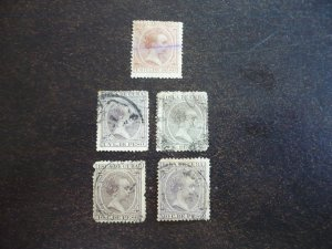 Stamps - Cuba - Scott# P8,135,144,147,153 - Used Partial Set of 5 Stamps