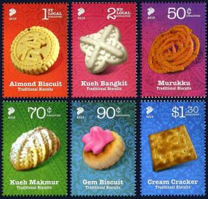 Singapore 2015 Traditional Biscuits 6v food confectionary cookie