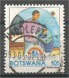 BOTSWANA, 1993, used 10t, Lions Intl, Scott 544