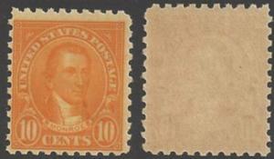 US 1925 10 cents Monroe, mint never hinged, Scott #591