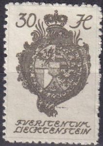 Liechtenstein #37  F-VF Unused  (SU7185)