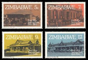 Zimbabwe MNH 434-7 Post Office Savings Bank Architecture 1980