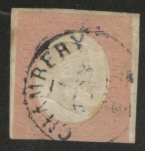 SARDINIA Scott 9 40c 1854 Genuine CV$3000 CHAMBERY  cx