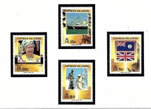 Cayman Is 677-80 MNH 1994 Royal Visit    (KA)