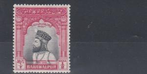 BAHAWALPUR  1947  S G 18  1/2A BLACK & CARMINE  MH