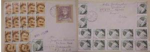 POLAND ENVELOPE WITH 30 ADDED STAMPS 1968 TARNOW
