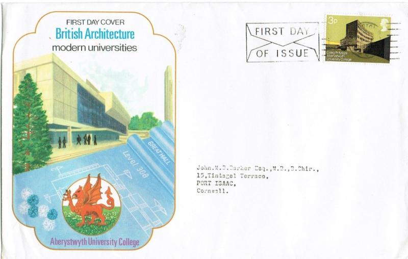 GREAT BRITAIN 1971 - MODERN BRITISH UNIVERSITIES, LARGE FDC, PADDINGTON CANCEL