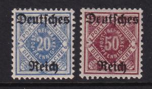 GERMAN-wurttemberg SC.# 0179, 0182 MH (168-6)