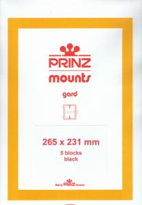 PRINZ BLACK MOUNTS 265X231 (5) RETAIL PRICE $17.50