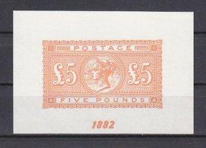 Great Britain, Cinderella issue. 1882 Stamp s/sheet. ^