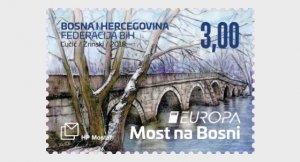 2018 Bosnia & Herzegovina Croat Mostar Bridges Europa (Scott 371) MNH