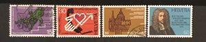Switzerland 1975 #606-09, Used, CV $1.85