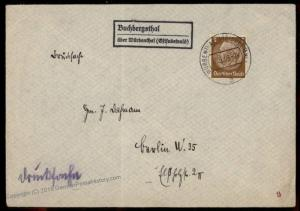 Germany 1939 Bruchbergsthal Sudetenland Annexation Provisional Cover Czech 72540
